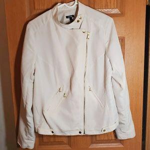 Apt 9 Cream motto jacket